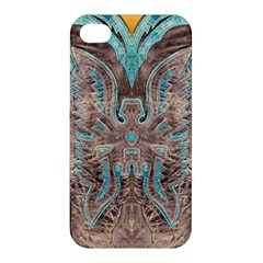 Turquoise And Gray Western Leather Look Apple Iphone 4/4s Hardshell Case