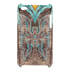 Turquoise and Gray Western Leather Look Apple iPod Touch 4G Hardshell Case