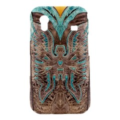 Turquoise and Gray Western Leather Look Samsung Galaxy Ace S5830 Hardshell Case