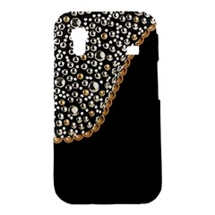 Black Leather Look w/Silver Studs Samsung Galaxy Ace S5830 Hardshell Case