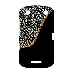 Black Leather Look w/Silver Studs BlackBerry Curve 9380 Hardshell Case