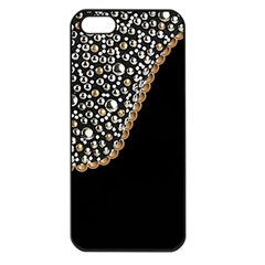 Black Leather Look w/Silver Studs Apple iPhone 5 Seamless Case (Black)