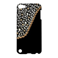 Black Leather Look w/Silver Studs Apple iPod Touch 5 Hardshell Case