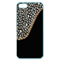 Black Leather Look W/silver Studs Apple Seamless Iphone 5 Case (color)