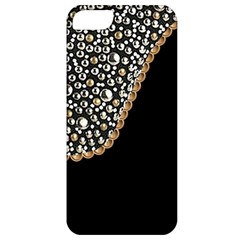 Black Leather Look W/silver Studs Apple Iphone 5 Classic Hardshell Case