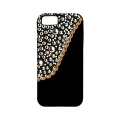 Black Leather Look w/Silver Studs Apple iPhone 5 Classic Hardshell Case (PC+Silicone)
