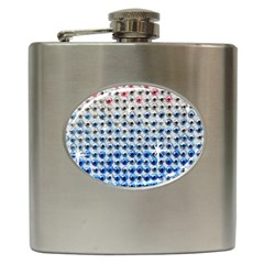 Rainbow Colored Bling Hip Flask