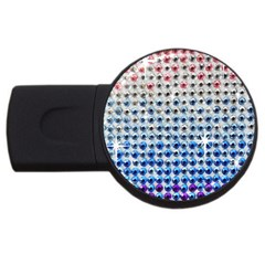 Rainbow Colored Bling 1Gb USB Flash Drive (Round)