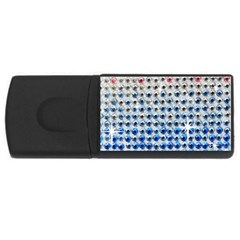 Rainbow Colored Bling 2Gb USB Flash Drive (Rectangle)