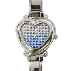 Rainbow Colored Bling Classic Elegant Ladies Watch (Heart)
