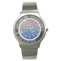 Rainbow Colored Bling Stainless Steel Watch (Round)