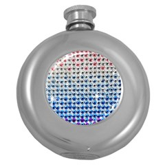 Rainbow Colored Bling Hip Flask (Round)