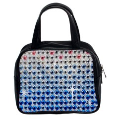 Rainbow Colored Bling Twin-sided Satched Handbag