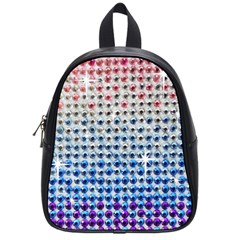 Rainbow Colored Bling Small School Backpack