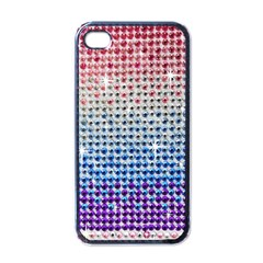 Rainbow Colored Bling Black Apple Iphone 4 Case