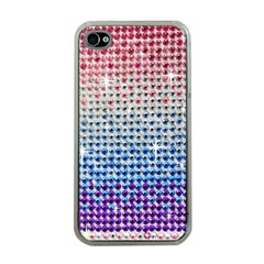 Rainbow Colored Bling Apple Iphone 4 Case (clear)