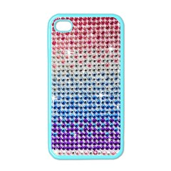 Rainbow Colored Bling Apple iPhone 4 Case (Color)