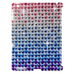 Rainbow Colored Bling Apple iPad 3/4 Hardshell Case (Compatible with Smart Cover)