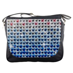 Rainbow Colored Bling Messenger Bag