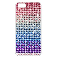 Rainbow Colored Bling Apple Iphone 5 Seamless Case (white)
