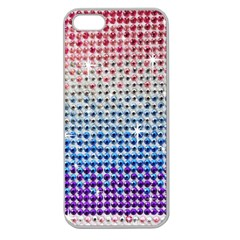 Rainbow Colored Bling Apple Seamless iPhone 5 Case (Clear)
