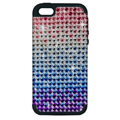 Rainbow Colored Bling Apple Iphone 5 Hardshell Case (pc+silicone)