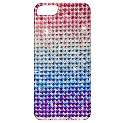 Rainbow Colored Bling Apple iPhone 5 Classic Hardshell Case