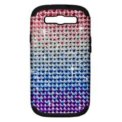 Rainbow Colored Bling Samsung Galaxy S III Hardshell Case (PC+Silicone)