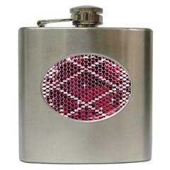 Red Glitter Bling Hip Flask