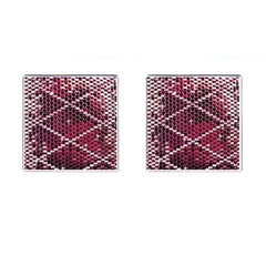 Red Glitter Bling Square Cuff Links