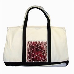 Red Glitter Bling Two Toned Tote Bag