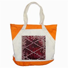 Red Glitter Bling Snap Tote Bag