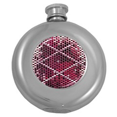 Red Glitter Bling Hip Flask (round)