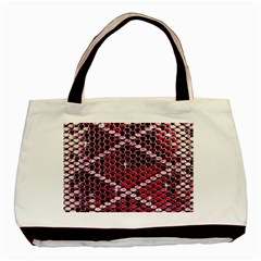 Red Glitter Bling Twin-sided Black Tote Bag