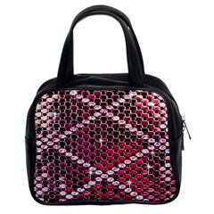 Red Glitter Bling Twin Sided Satched Handbag