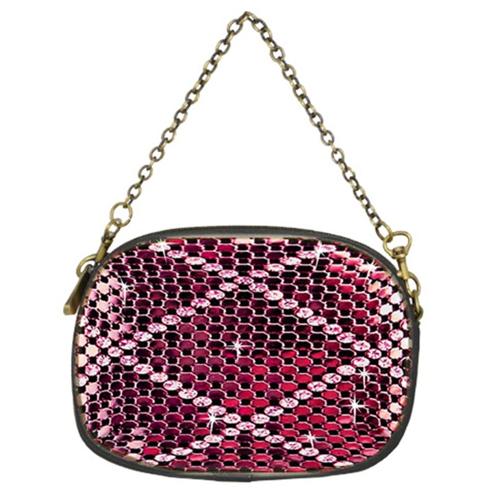 Red Glitter Bling Twin-sided Evening Purse