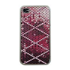 Red Glitter Bling Apple Iphone 4 Case (clear)