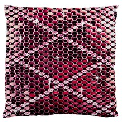 Red Glitter Bling Large Cushion Case (One Side)