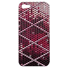 Red Glitter Bling Apple iPhone 5 Hardshell Case
