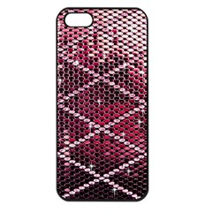 Red Glitter Bling Apple Iphone 5 Seamless Case (black)
