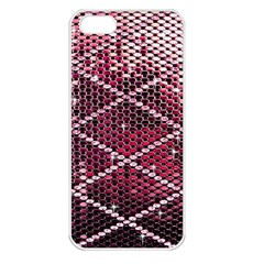 Red Glitter Bling Apple iPhone 5 Seamless Case (White)