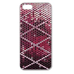 Red Glitter Bling Apple Seamless iPhone 5 Case (Clear)