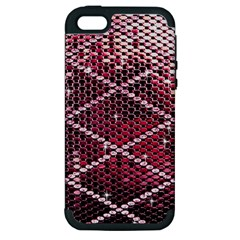 Red Glitter Bling Apple iPhone 5 Hardshell Case (PC+Silicone)