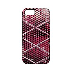 Red Glitter Bling Apple Iphone 5 Classic Hardshell Case (pc+silicone)