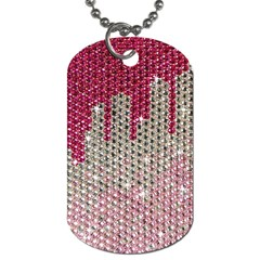 Mauve Gradient Rhinestones  Twin Sided Dog Tag