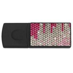 Mauve Gradient Rhinestones  2Gb USB Flash Drive (Rectangle)