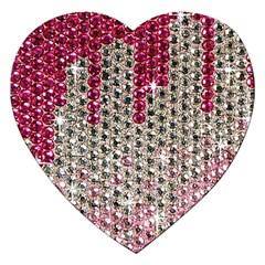 Mauve Gradient Rhinestones  Jigsaw Puzzle (heart)