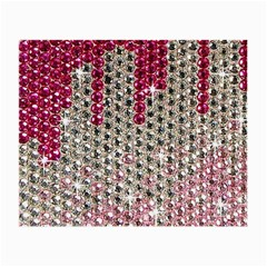 Mauve Gradient Rhinestones  Glasses Cleaning Cloth