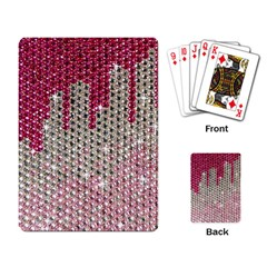 Mauve Gradient Rhinestones  Standard Playing Cards