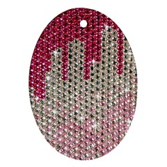 Mauve Gradient Rhinestones  Oval Ornament (Two Sides)